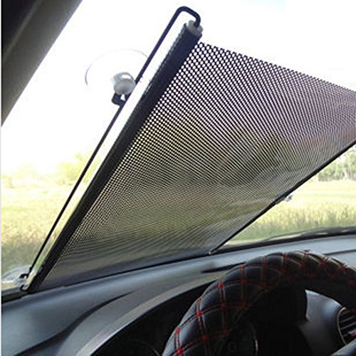 Retractable Car Windshield Visor Sun Shade Auto Front Rear Side Window Blinds Sun Shades Anti UV Sunshades 125x58cm