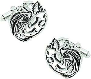 MasGemelos - Gemelos Juego de Tronos Targaryen 3D Cufflinks: Amazon.es: Joyería
