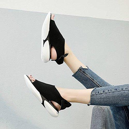Mujeres Paño de Arco Elástico de Mujer Blanco TYERY Sandalias Espuma 37 Plataforma Cómodo Zapatos Goma de fqxY7A4