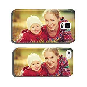 happy family: mother and child little daughter in autumn cell phone cover case iPhone6