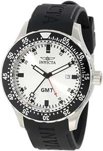 Invicta Men's 11254 Specialty GMT Silver Dial Black Polyurethane Watch
