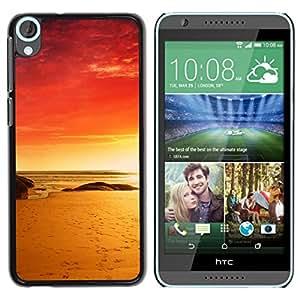 All Phone Most Case / Oferta Especial Duro Teléfono Inteligente PC Cáscara Funda Cubierta de proteccion Caso / Hard Case HTC Desire 820 // Red Beach