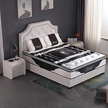 BAOSHILAI Rucas 12 Inch Memory Foam Mattress Queen & Pocket Spring Mattress. CertiPUR-US