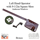 Andersen 7073B Operator w/ Handle 9-1/2 Inch Arm Square Shoe, LH - Bronze