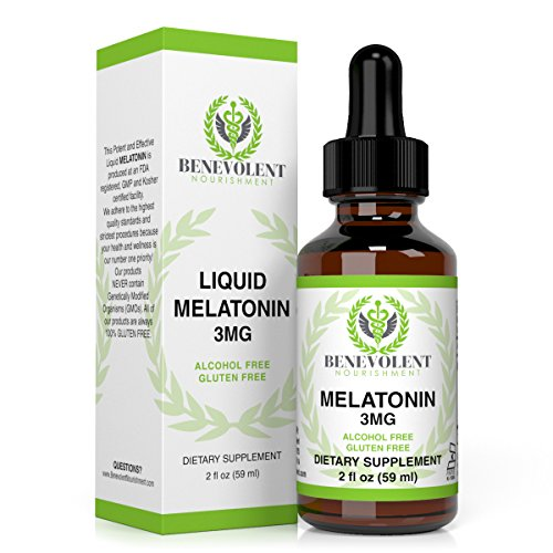 Melatonin 3MG Liquid. Potent & Effective Sublingual Drops Will Make You Fall (Flavored Vanilla Body Powder)