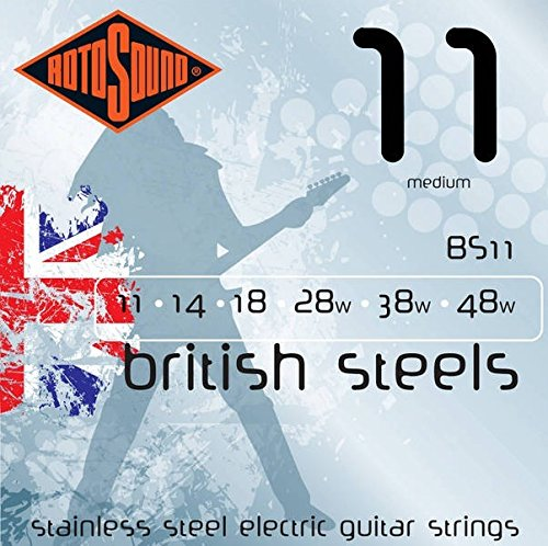 British Guitar (Rotosound BS11 British Steel Electric Guitar Strings (11-48))
