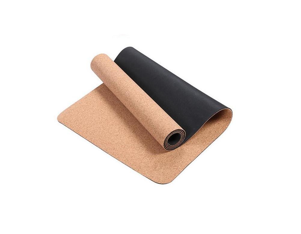 HHORD Estera de la Yoga Mat 8MM Espesar alargan el Corcho ...