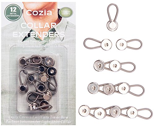 Cozia Collar Extenders Button 12 Pack