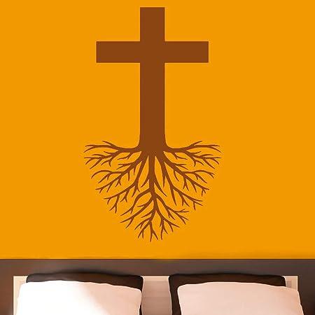 guijiumai Cruz con raíces Etiqueta de Arte de Pared Religión ...