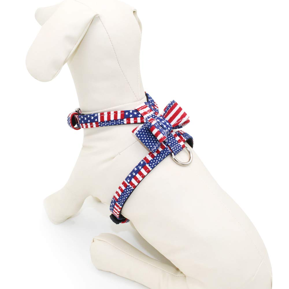 L(14.9\ AIYOHE Dog Leash Harness American Flag Pet Harness Adjustable Outdoor Pet Vest for Small, Medium Dog, Perfect for Daily Training Walking Running (L(14.9 -18.1  Chest Girth))