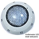 45W Swimming Pool Light Underwater IP68 Wall Mounted 12V AC Power LED 7 Colors RGB 5 Feet Wire with Remote Control