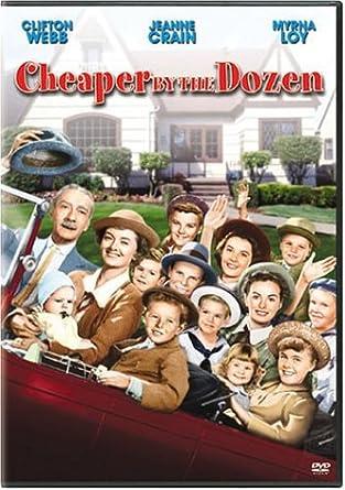 Amazoncom Cheaper By The Dozen Clifton Webb Myrna Loy Jeanne  Image Unavailable