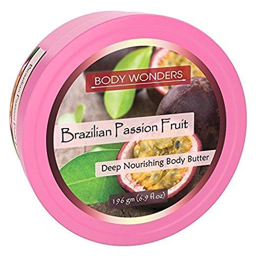 (Body Wonders Brazilian Passion Fruit Deep Nourishing Body Butter (196 Gm, 6.9 Fl Oz)-pack of 3)
