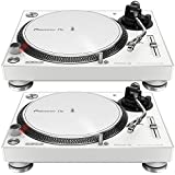 Pioneer PLX-500-W Direct Drive DJ Turntable Pair