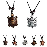 MengPa Cute Sea Turtles Tortoises Pendant Necklaces for Women Men Kids (8 Pcs)