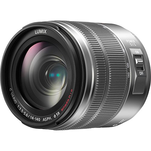 PANASONIC LUMIX G Vario Lens, 14-140mm, F3.5-5.6 ASPH, Mirrorless Micro Four Thirds, POWER Optical IS, H-FS14140S  (Silver)