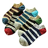 5 Pairs Of Male Cotton Breathable Absorbent SOCKS Thick Stripes