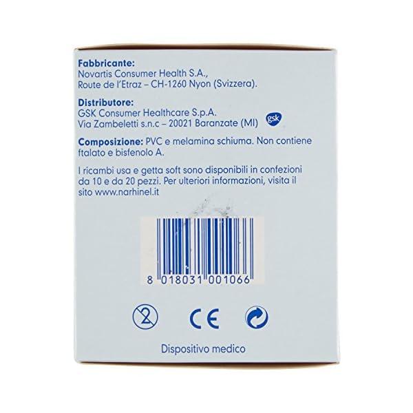 NARHINEL 20 Ricambi Usa e Getta Soft in Plastica Morbida, con Filtro Assorbente, per Trattenere il Muco ed Aiutare a… 4