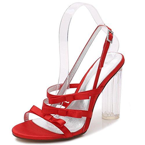 Red Fiesta Tacones marfil Plataforma F2615 Boda Cristal Zapatos Mujer yc blanco L De 3 Para Cwqpn6P