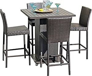 TK Classics NAPA PUB WITHBACK 4 5 Piece Napa Pub Table Set With