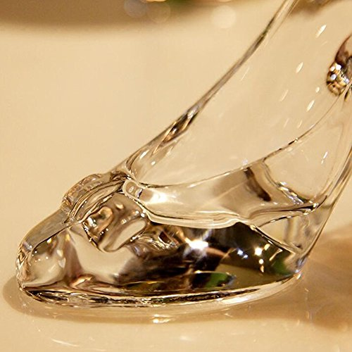 Crystal Glass Bowknot Slipper Shoes Decoration Bridal