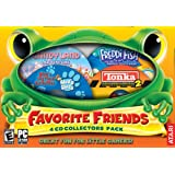 Favorite Friends 4-Game Collectors Pack: Freddi Fish - The Case of the Haunted Schoolhouse, Blue's Clues - Blue's 123 Time Activities, Tonka Contruction 2, and Candyland Adventure