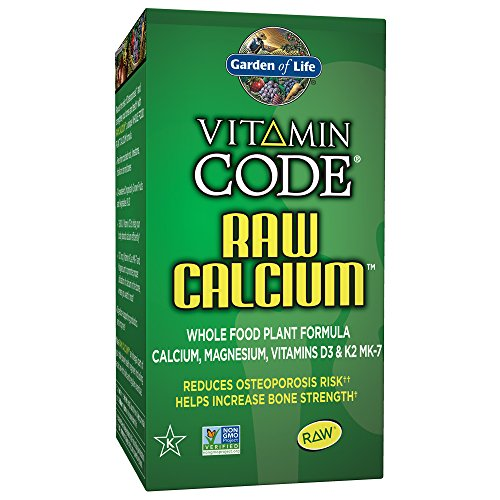 Garden of Life Raw Calcium Supplement – Vitamin Code Whole Food Calcium Vitamin for Bone Health, Vegetarian, 60 Capsules