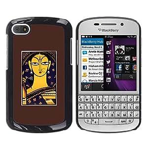 Be Good Phone Accessory // Dura Cáscara cubierta Protectora Caso Carcasa Funda de Protección para BlackBerry Q10 // Bodhi ?