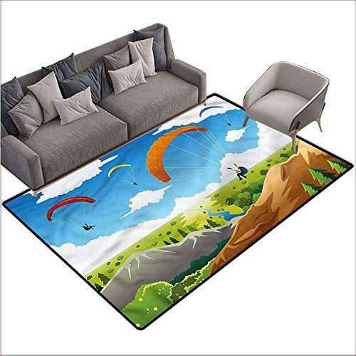 Multi Use Parachute - Multi-USE Floor MAT Cartoon,Colorful Parachute Mountain 48