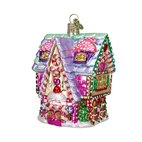 Old World Christmas Ornaments: Cupcake Cottage Glass Blown Ornaments for Christmas Tree ()