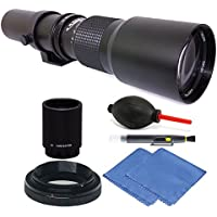 Vivitar 500mm / 1000mm f/8 Telephoto Lens for Nikon D5 D4S DF D4 + 2X Converter