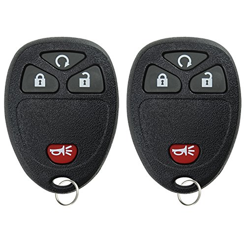 KeylessOption Keyless Entry Remote Control Car Key Fob Replacement for 15114374 (Pack of 2) (Best Remote Car Starter Reviews)