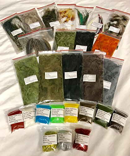 Fly Tying Dubbing - Muskoka Lifestyle Products Fly Tying Material Feather Starter Kit