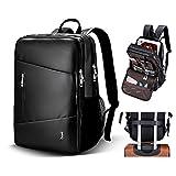 Laptop Backpack 14-15 inch College School Business Travel Backpack for Men & Women, Water Resistant Lightweight Nylon Laptop Computer Backpack (Black)