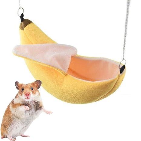 iSmarten Banana Hamster cama casa hamaca animal pequeño cálido ...