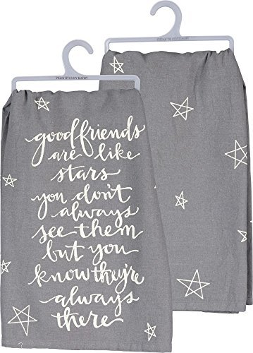 Primitives by Kathy Tea Towel Good Friends are Like Stars Always There
