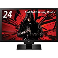 LG Electronics 24GM77 24 Widescreen LED Gaming Monitor, 350 cd/m2 Brightness, 1080p Resolution, 144Hz Refresh Rate, D-Sub/DVI-D/HDMI/DisplayPort, USB
