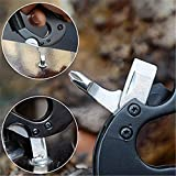 DAOKI-7-in-1-Multi-functional-Knife-Updated-Carabiner-Keychain-Camping-Survival-Gear-Clip-Includes-Flashlight-Knife-Screwdriver-Glass-BreakerBottle-Opener-for-Backpack-Hammock-Straps-Hiking