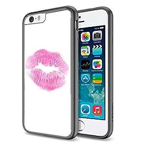 Pink Lipstick - Apple iPhone 6 Plus Black Cover Case