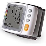 Digital Wrist Blood Pressure Monitor with Heart Rate Detection, Two User Modes, Memory Recall ...