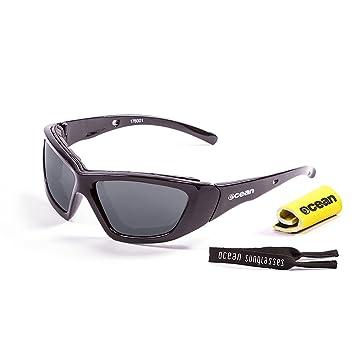 Ocean Sunglasses Biarritz - Gafas de Sol polarizadas - Montura : Negro Brillante - Lentes :