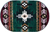 Southwest Native American Area Rug Design C318 Hunter Green (3 Feet X 4 Feet 8 Inch Oval) Review