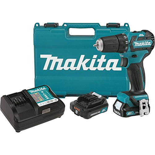 Makita FD07R1 12V MAX CXT Lithium-Ion Brushless Cordless Driver-Drill Kit, ()