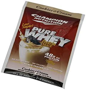 Champion Nutrition, Pure Whey Protein Stack, Cookies & Cream, 60-Count Box