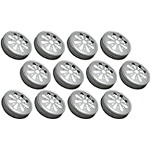 Sunshine Mason Co. Daisy Flower Cut Mason Jar Lids 12 Pieces, Silver