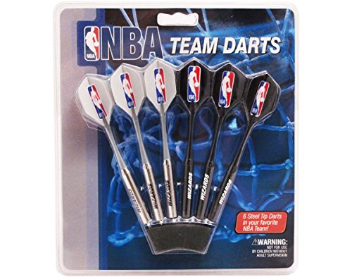 Imperial Set of 6 NBA Washington Wizards Steel Tip Darts & Flights with NBA Logo by Imperial