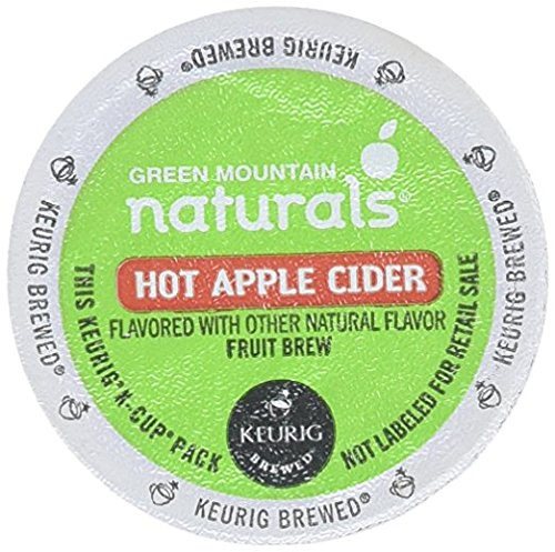 Count Natural (Green Mountain Naturals Hot Apple Cider, K-Cup Portion Count for Keurig K-Cup Brewers, 24-Count (Packaging May Vary))