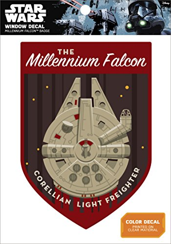 Star Wars Millennium Falcon Badge Window Decal Action Figure