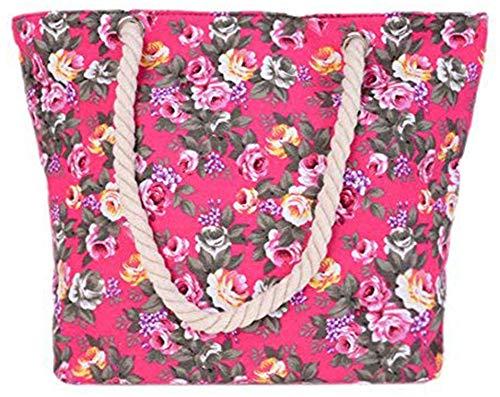 Mujer Mujeres Holiday Bag Colores Top Gran Bolsos Beach Las Tamaño La Varios Shopping Bohemia 6 De Hombro Handle Lona Bebelle Bolso Totes Travel xpq8wT