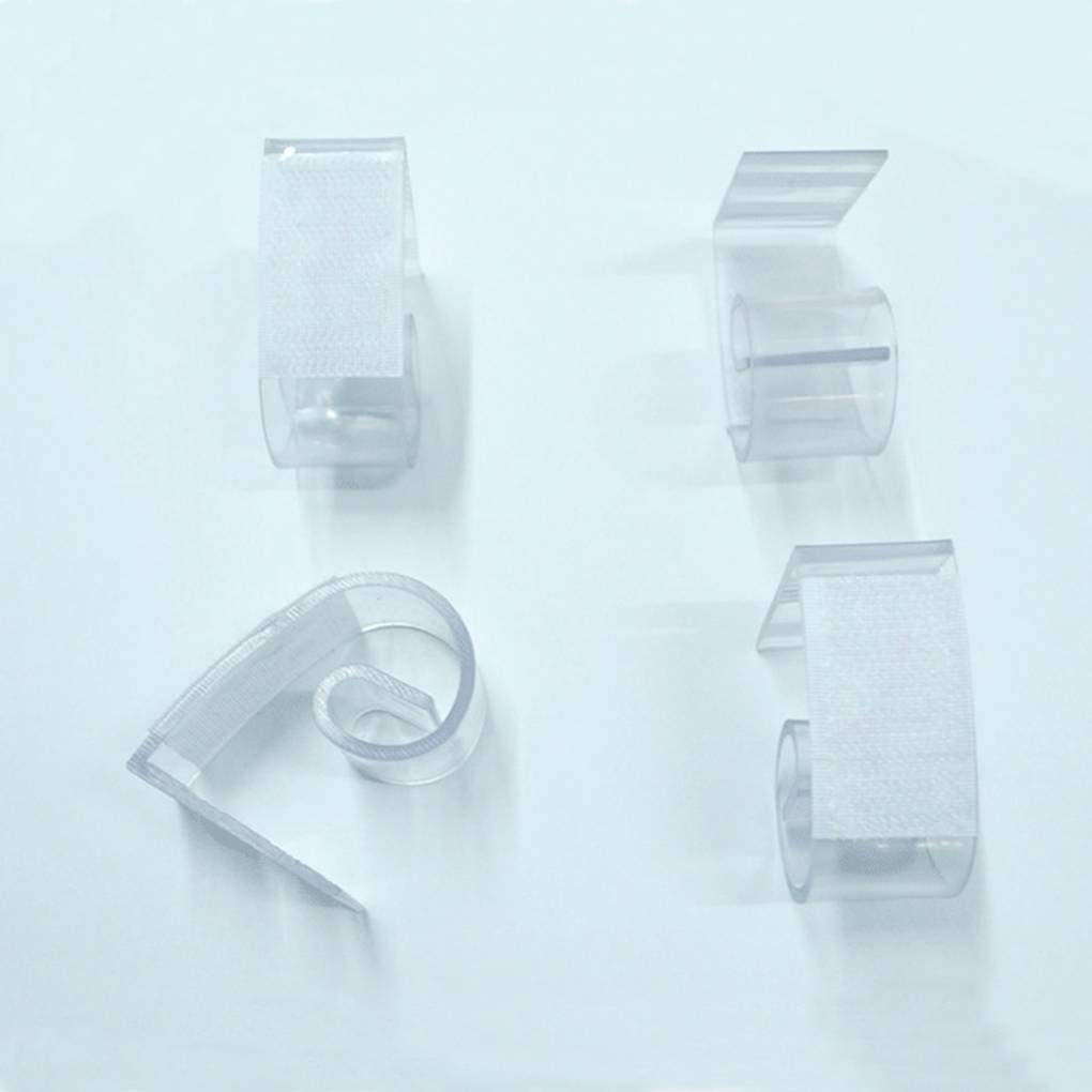 Busirde Clear Hook Table Tablecloth Skirting Clips Clamp Table Edge Hook Loop Fastener Wedding Home Picnic Indoor Events White /& transparent 0.5cm